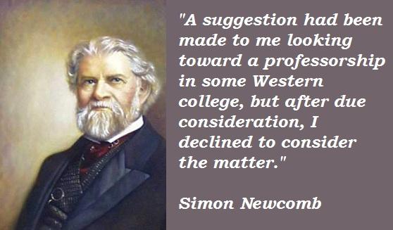 Simon Newcomb's quote #7
