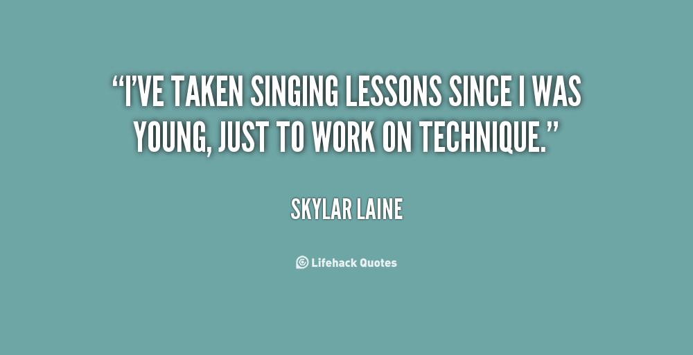 Singing Lessons quote #2