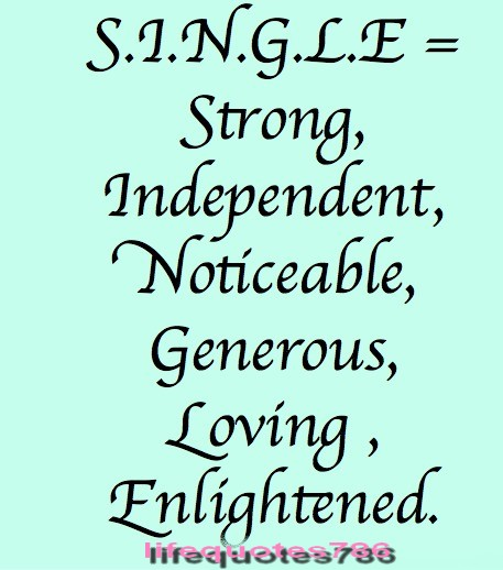 Single Life Quotes Automobilistmetpit