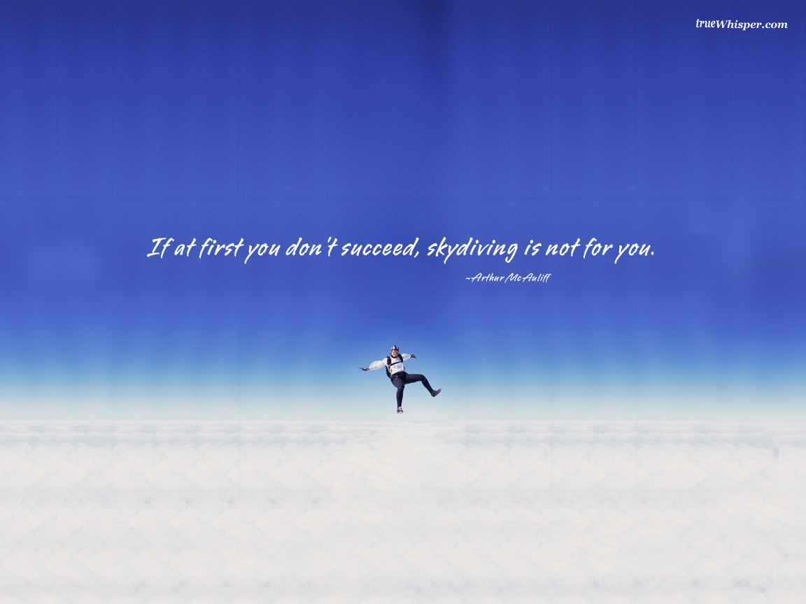 Skydiving quote #2