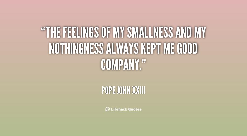 Smallness quote #1