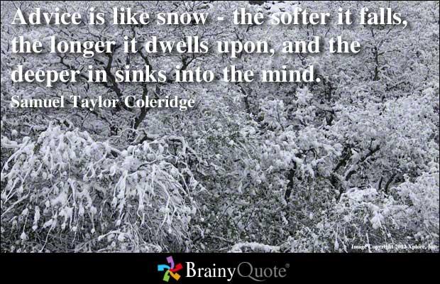 Snow quote #4
