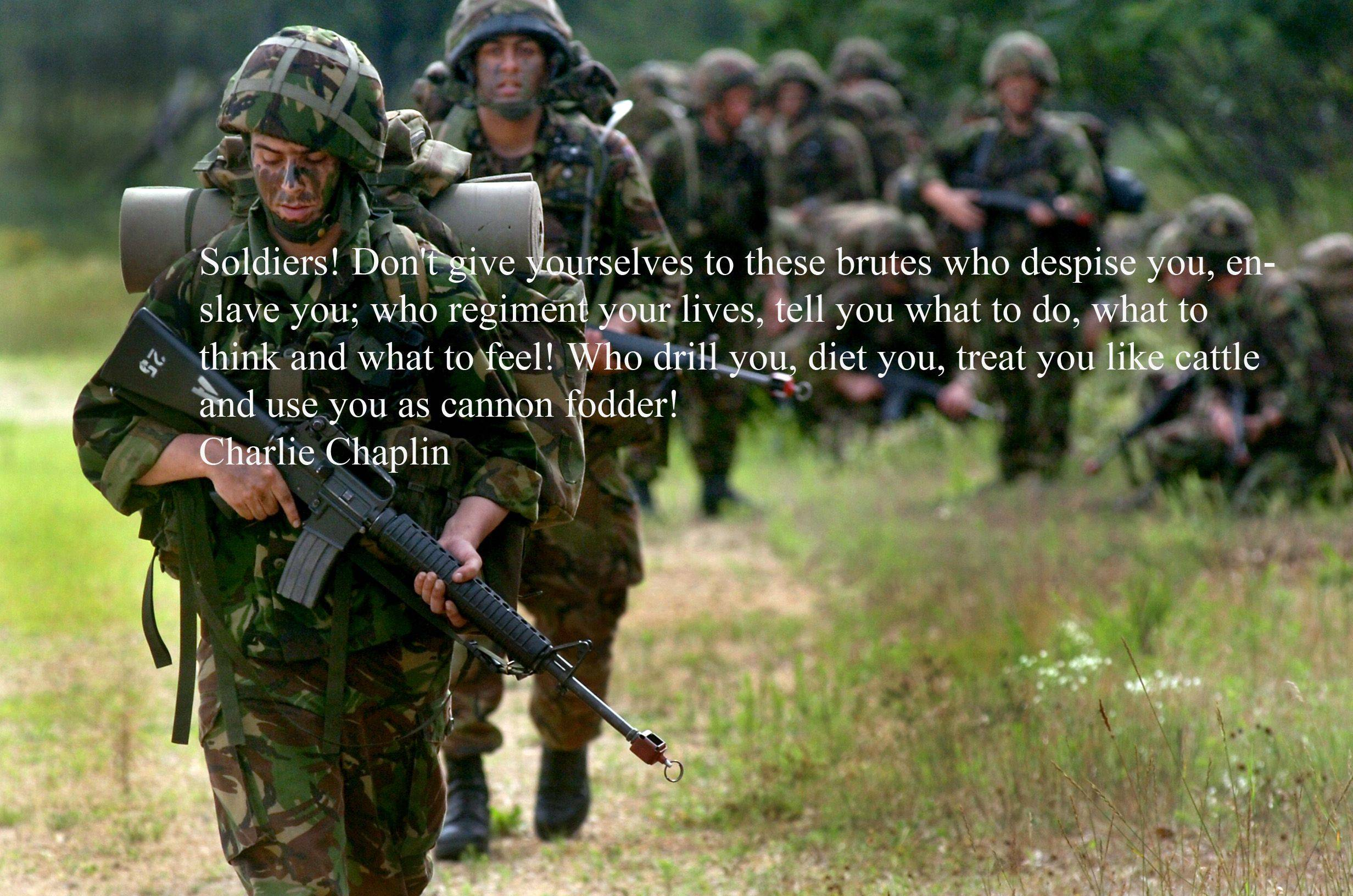 Soldiers quote #4
