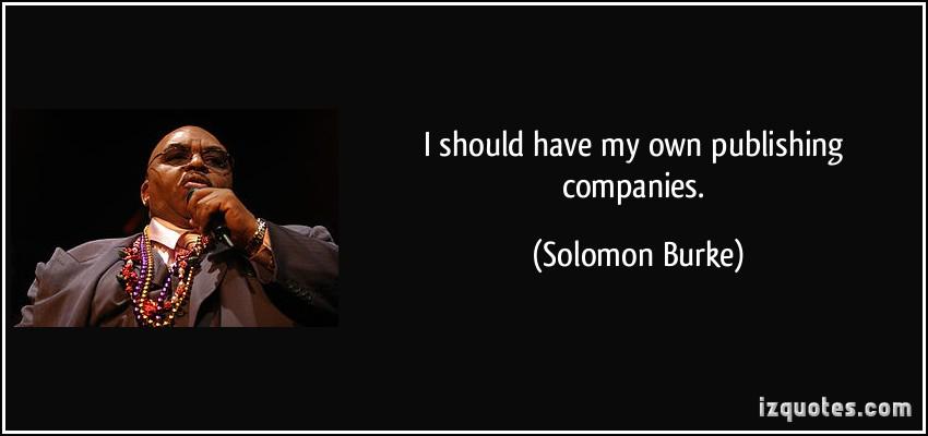 Solomon Burke's quote #1