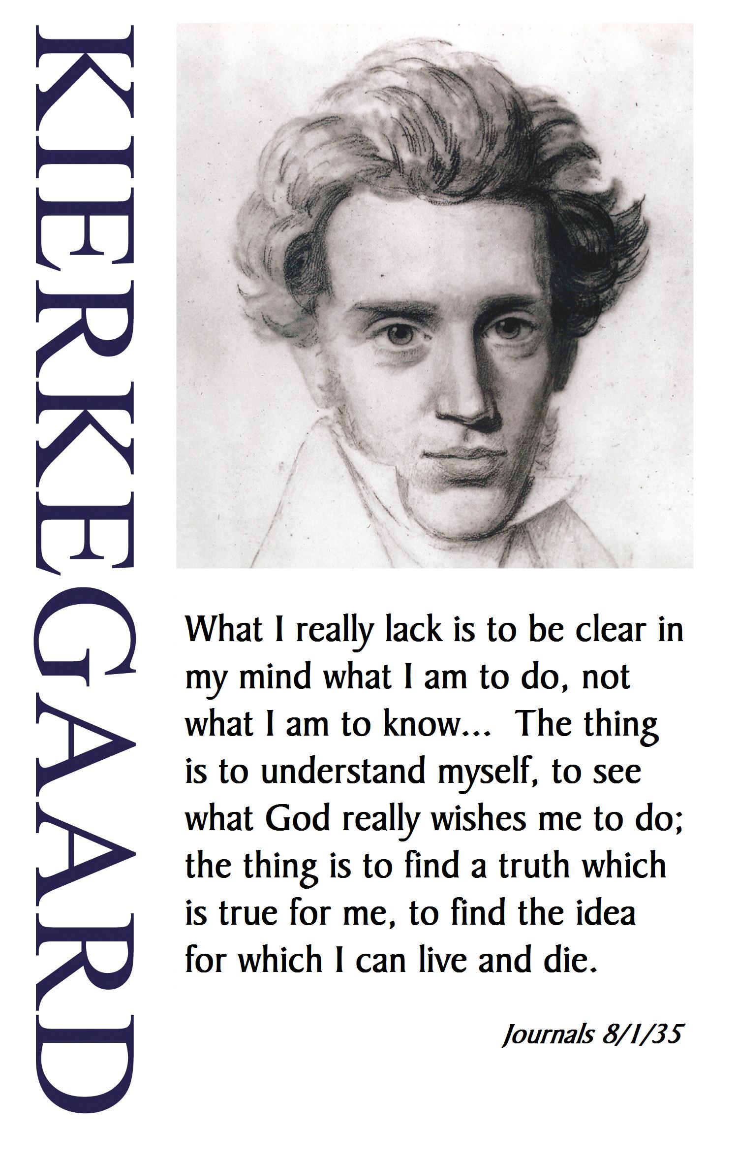 a study of soren kierkegaards existentialism This lesson will focus on the philosophies of soren kierkegaard and his concept of a leap existentialism: soren kierkegaard's leap of faith related study.