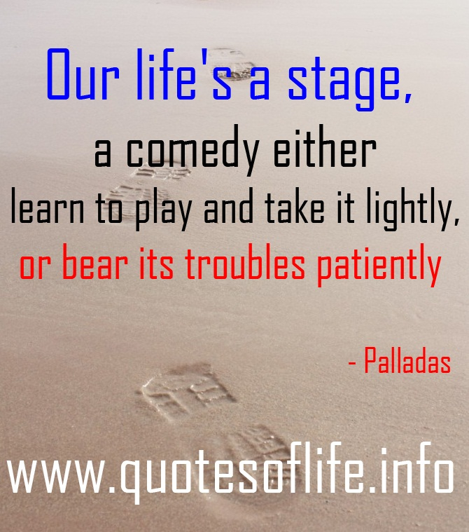 Stage Play quote #1