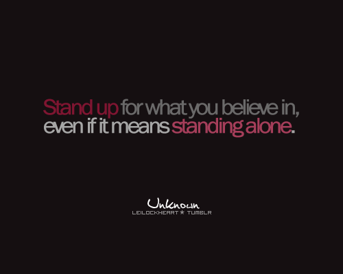 Standing Up quote #2