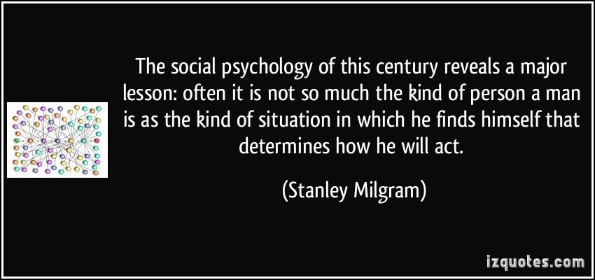milgram and zimbardo overpowering situations essay