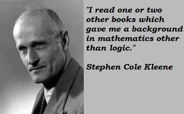 Stephen Cole Kleene's quote #2