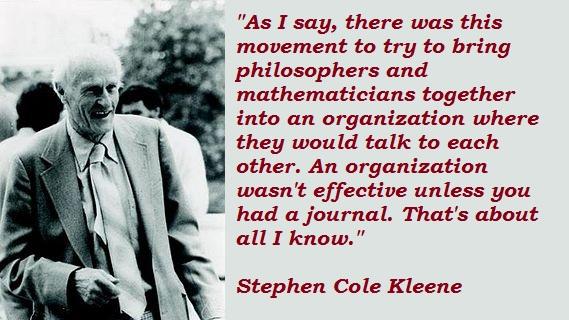 Stephen Cole Kleene's quote #7