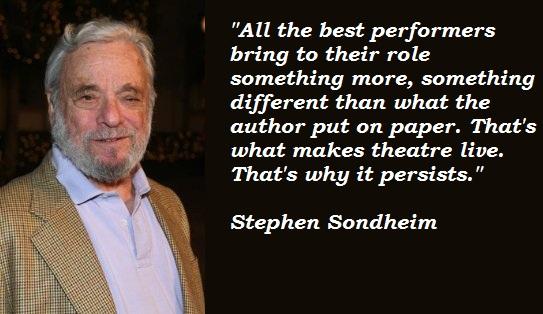 Stephen Sondheim's quote #1