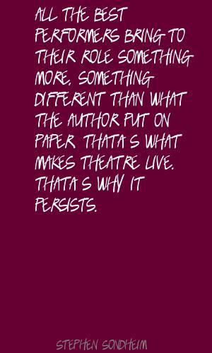 Stephen Sondheim's quote #5