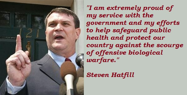Steven Hatfill's quote #2