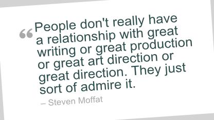 Steven Moffat's quote #2