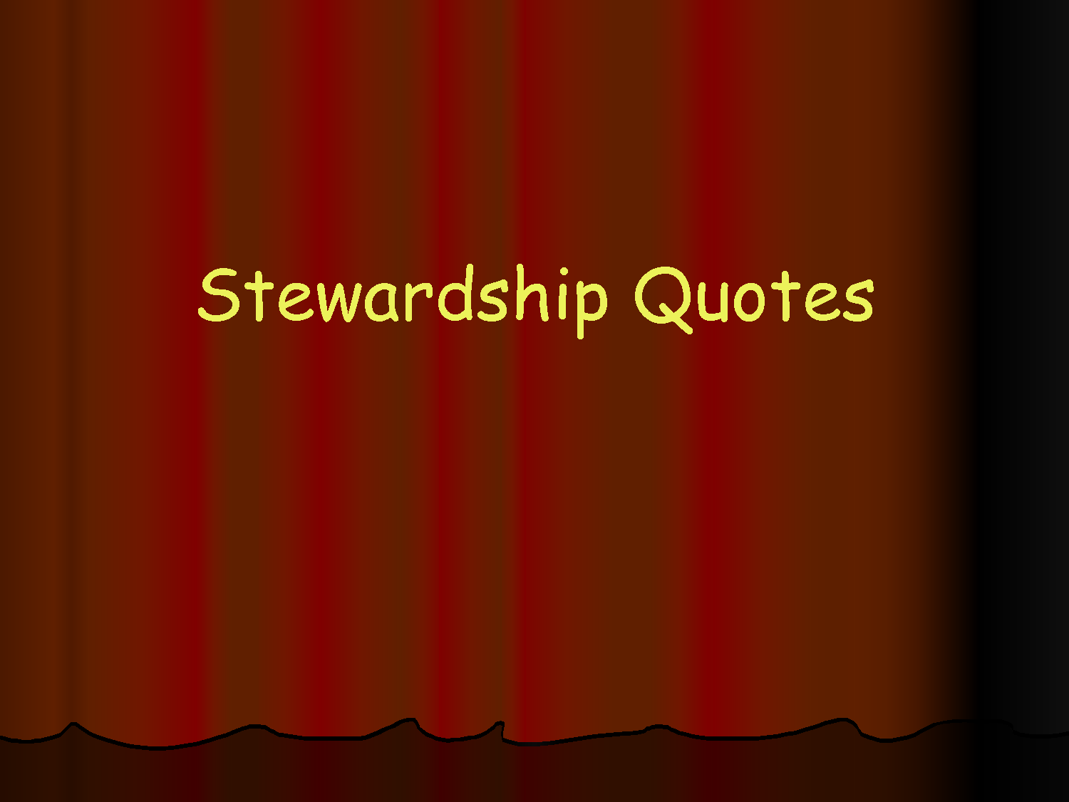 Stewardship Natural Resources