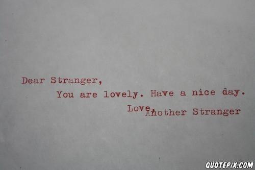 Stranger quote #1