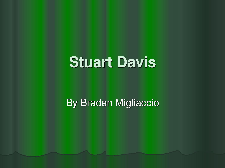 Stuart Davis's quote #1
