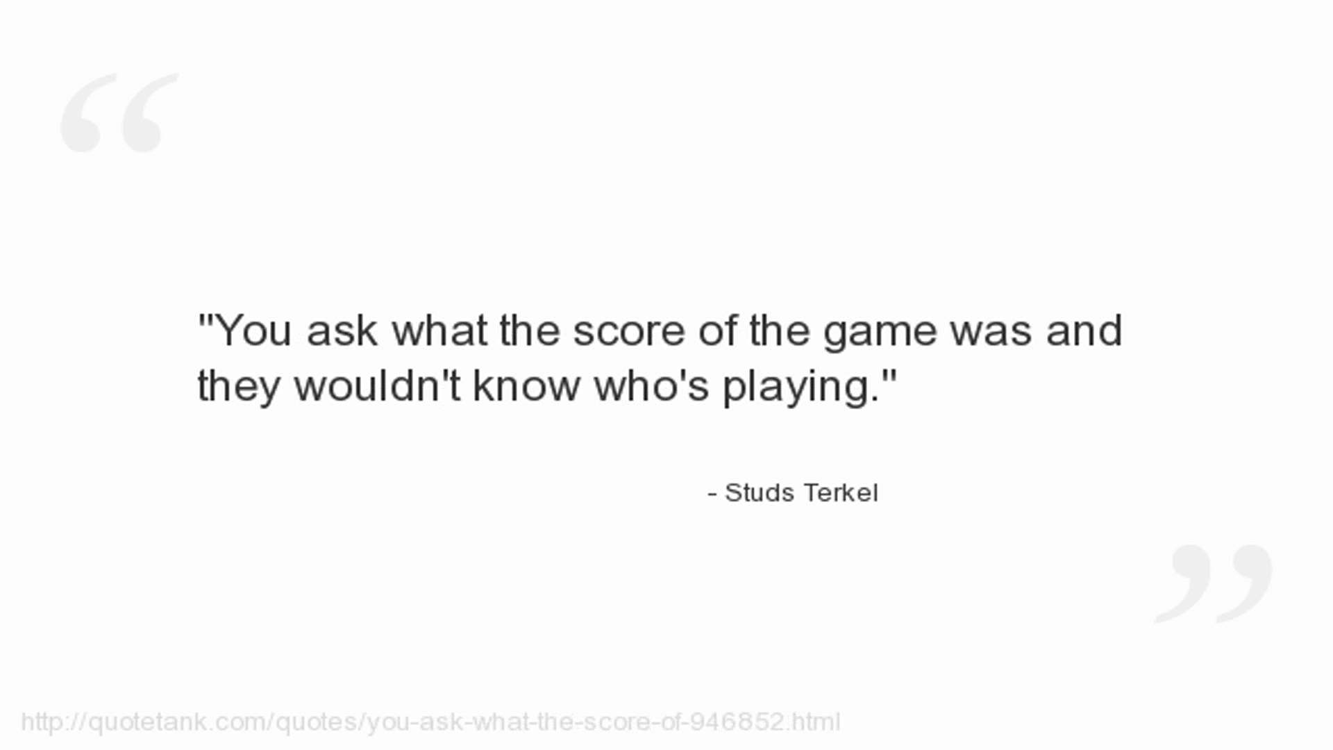 Studs Terkel's quote #2