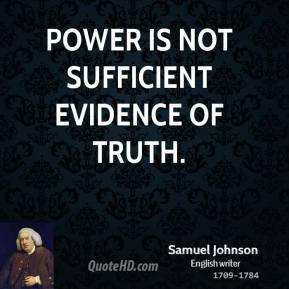 Sufficient Evidence quote #1