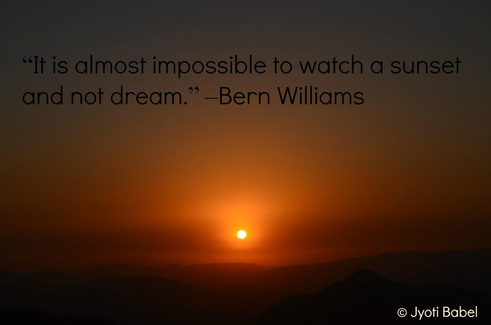 Sunset quote #3
