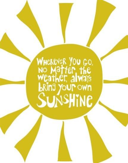 Sunshine quote #1