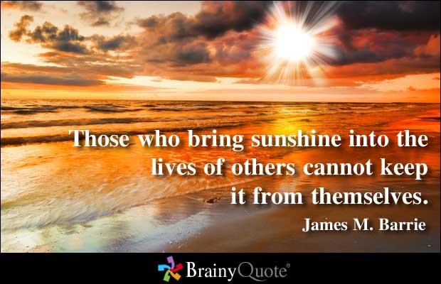 Sunshine quote #2