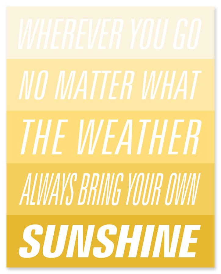 Sunshine quote #4
