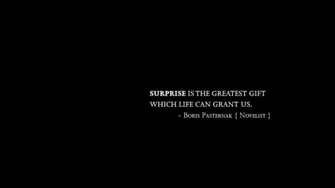 Surprises quote #3