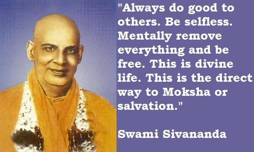 Swami Sivananda's quote #2
