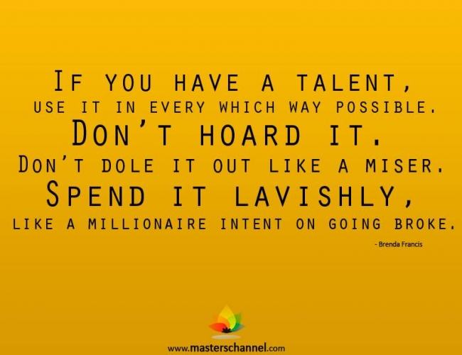 Talent quote #7