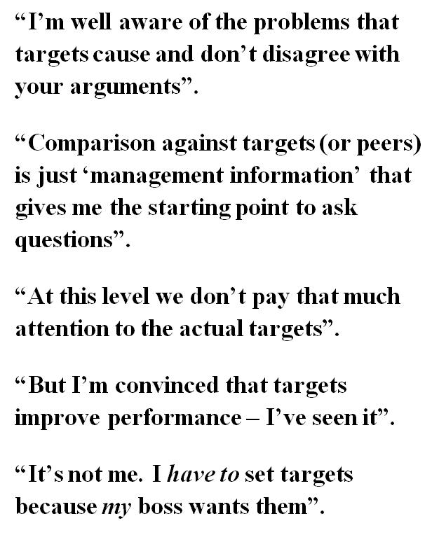Targets quote #1