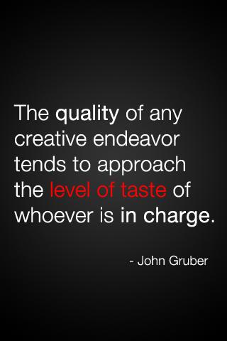 Taste quote #1