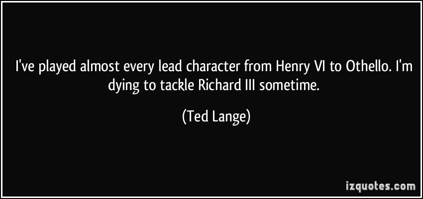 Ted Lange's quote #1