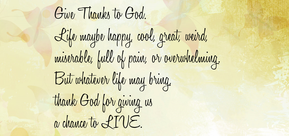 Thank Goodness quote #2