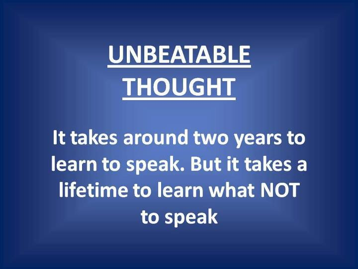 Unbeatable quote #1