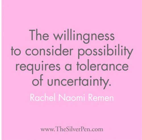 Uncertainty quote #1