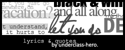 Underclass quote #2