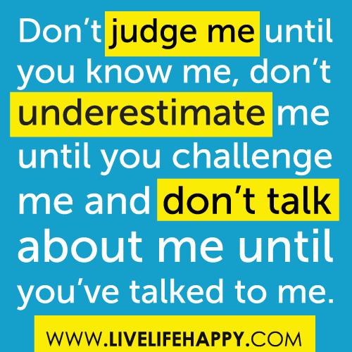 Underestimate quote #1