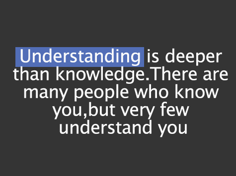 Understand quote #8