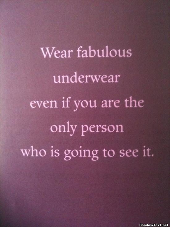 Underwear quote #5