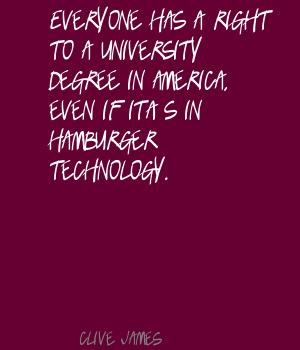 University quote #6