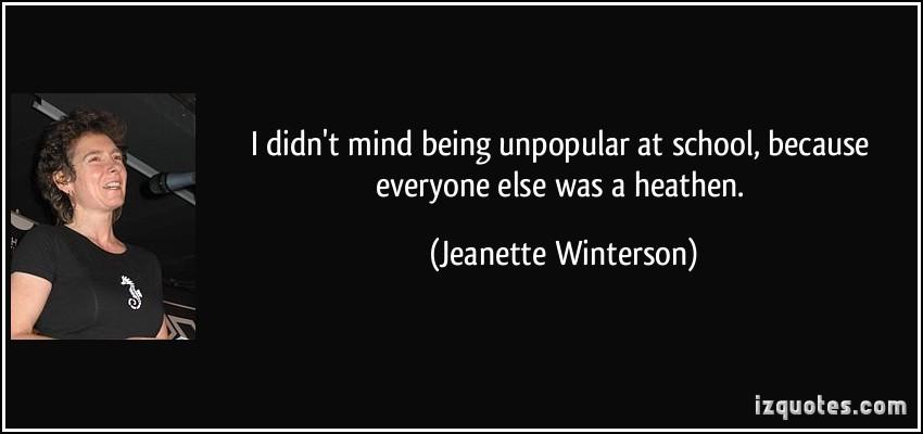 Unpopular quote #1