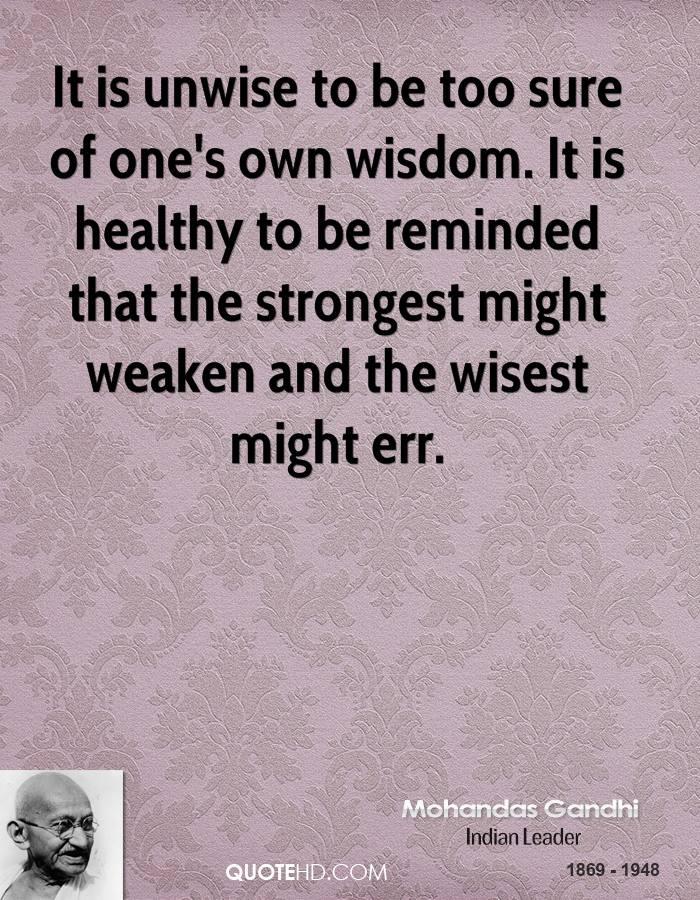 Unwise quote #1