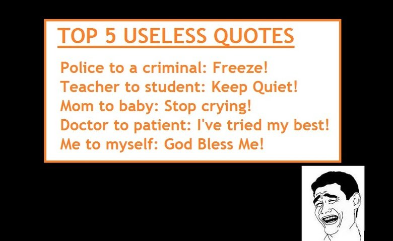 Useless quote #7