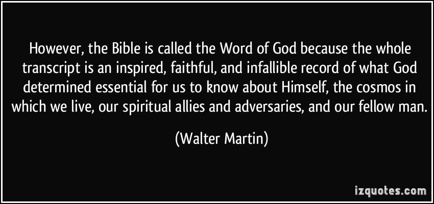 Walter Martin's quote #5