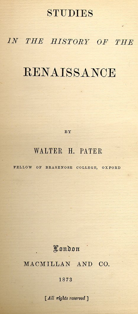 Walter Pater's quote #6