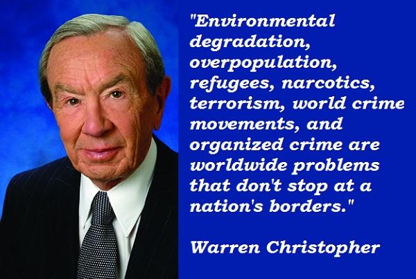 Warren Christopher's quote #3