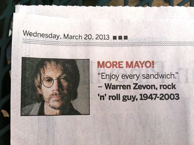 Warren Zevon's quote #4
