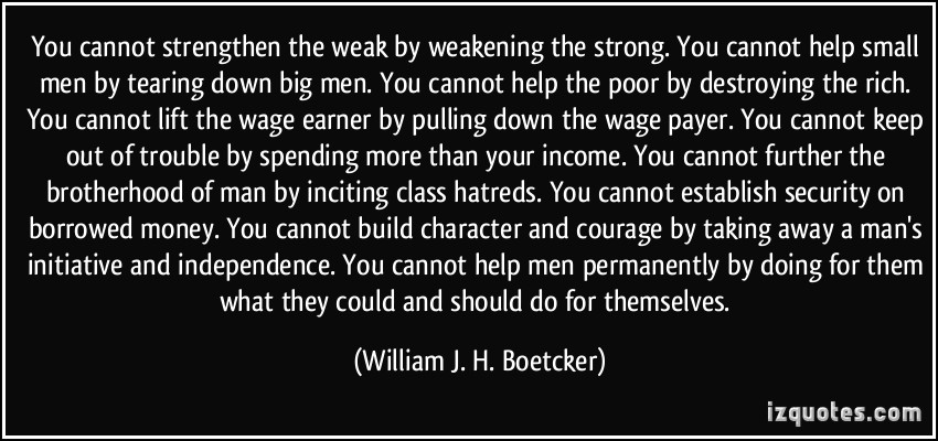 Weakening quote #1