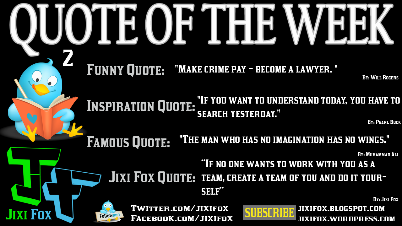 Week quote #1